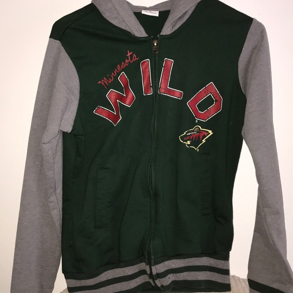 Tops - Zip Up Minnesota Wild Hockey Sweatshirt b4c320cf999